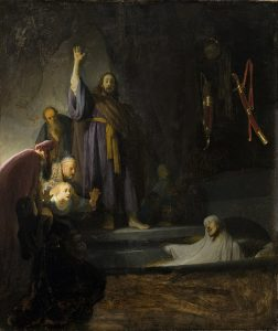 The Raising of Lazarus, painting by Rembrandt