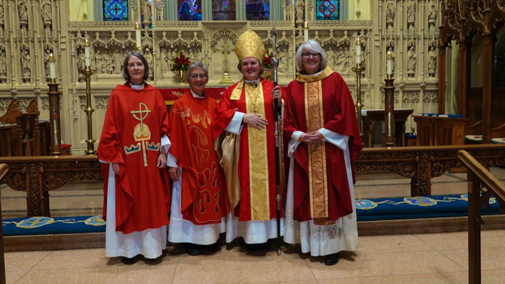 Rev. Fran, Rev. Judy, Bishop Susan Bell and Rev. Jody