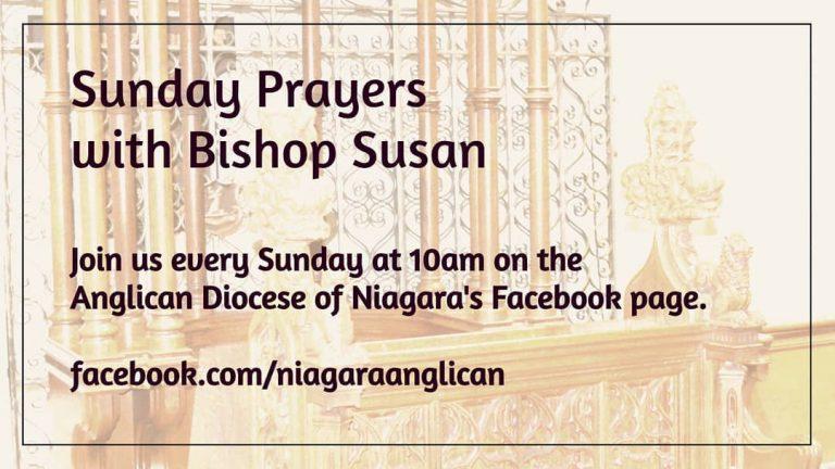 Sunday Prayers with Bishop Susan Bell - Sunday at 10 am